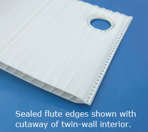 Sealer Flute edges keep contaminants out and the CSA box sanitary