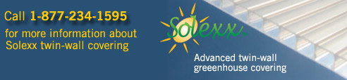 Solexx Greenhouse Covering save you money on energy costs for your commercial greenhouse business