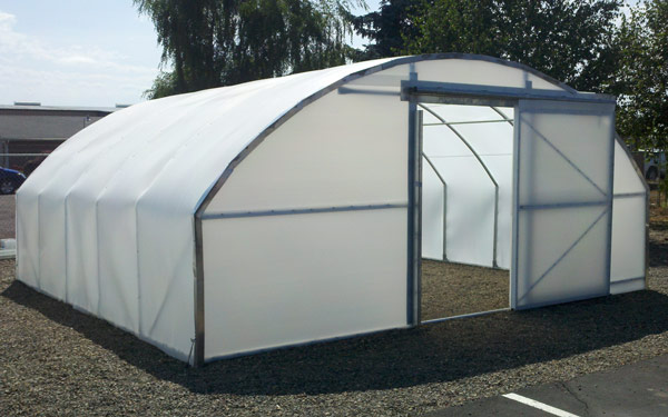 solexx willamette steel frame greenhouse - Commercial Greenhouse Kits