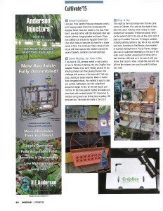 CropBoxes featured in September 2015 issue of Grower Talks