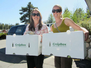 Happy Customers from Sierra Bounty with a new shipment of fresh produce from their CSA innitative
